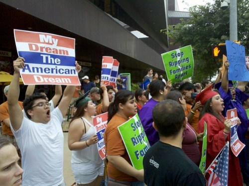DREAM Act Protesters for President Obama's Visit to Austin