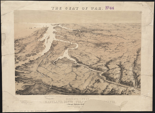 Bird's eye view of part of Maryland, Distr of Columbia and part of Virginia