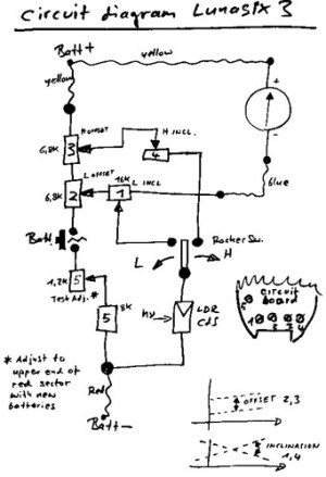 Gossen Lunasix 3 circuit diagram | I have a few cameras