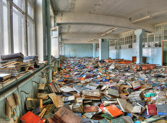Ruined Russian library, 6