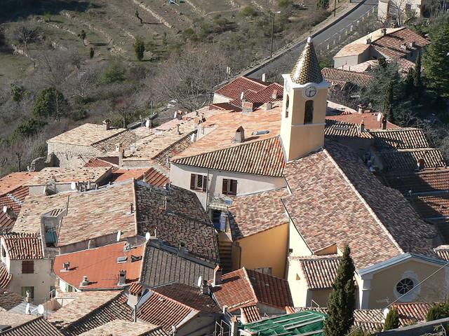 Sainte Agnes village, France