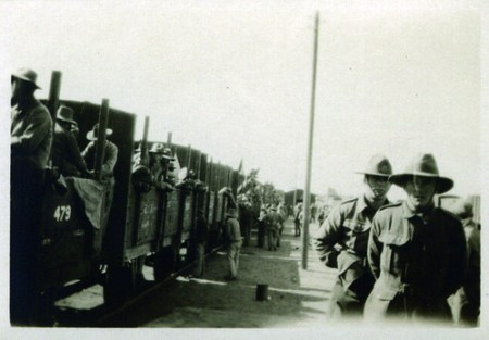 Soldiers and train - WW1