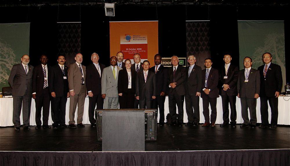 Panelists at Global Standards Symposium 2008