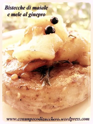 Bistecche di maiale mele al ginepro