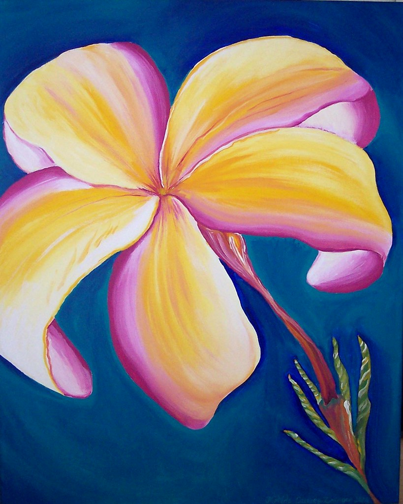 Exotic Hawaiin Flower BRIGHT by Matilde Zelinger