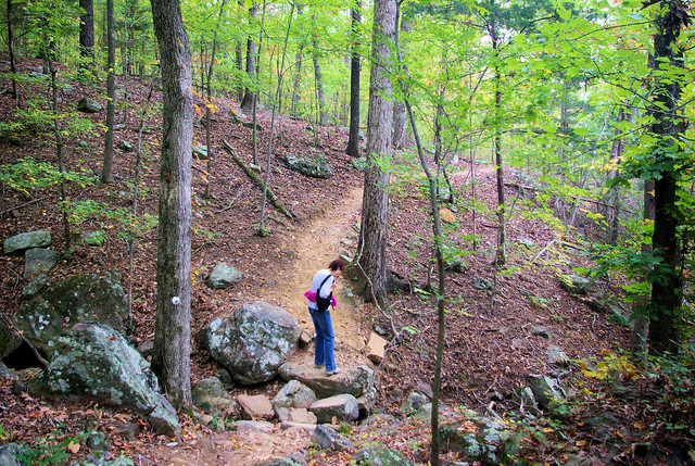 Ozark Highlands Trail along Lake Fort Smith, October 21, 2008, Arkansas