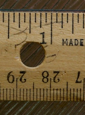 "Ruler - Wooden; Why no ""Inches"" label? from Flickr via Wylio"