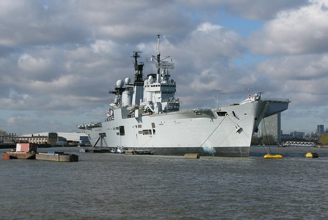 HMS Illustrious at Greenwich in 2012
