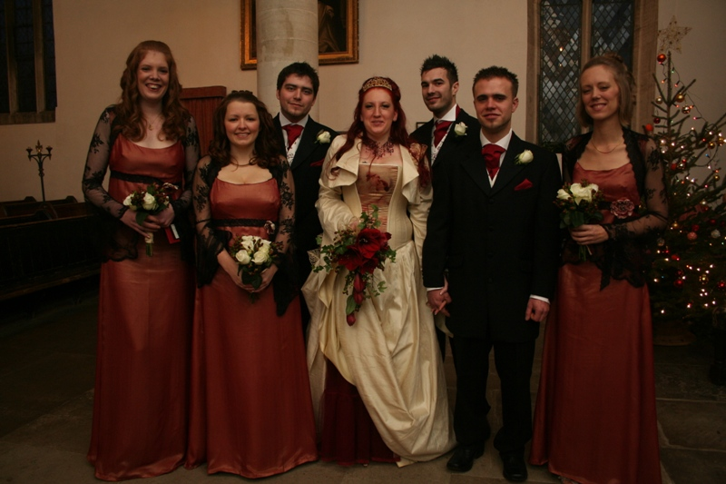 The gorgeous bridal party