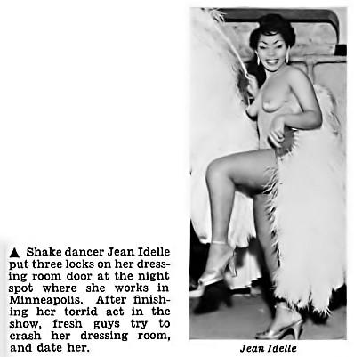 Shake Dancer Jean Idelle Puts 3 Locks on Her Dressing Room Door - Jet Magazine, January 14, 1954