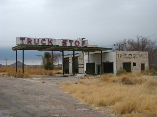 Abandoned Truck Stop - Sierra Blanca, Texas U.S.A. - January 5, 2009