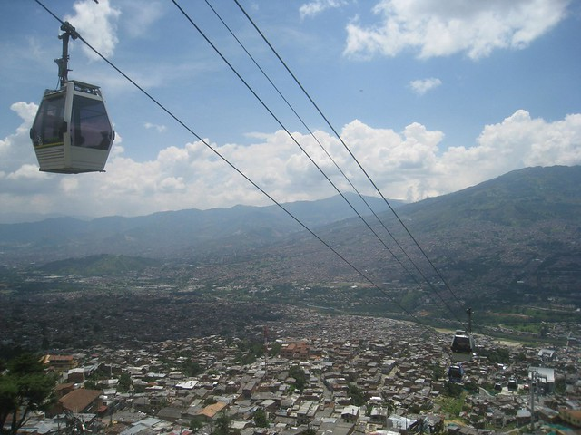 View of Medellín valley from Santo Domingo