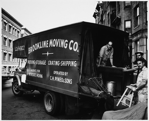 Moving Van, Brookline Moving Company and Movers, 1:00 P.M.