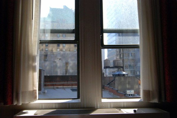 NYC Window View (a la Edward Hopper)