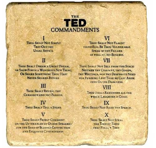 TED Commandments
