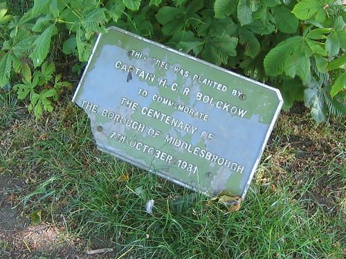 Captain H.C.R. Bolckow Tree Plaque, Albert Park