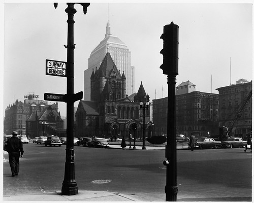 50 ft. Intervals, Corner of Boylston and Dartmouth Streets, Looking Across Street to Trinity Church and Copley Square by MIT-Libraries