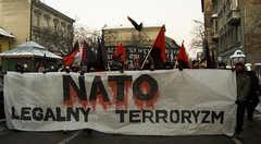 Stop NATO manifestation, Krakow