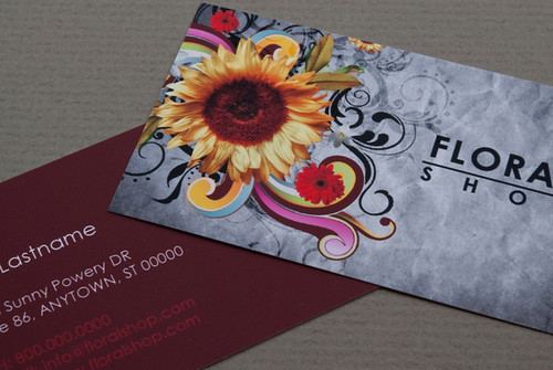 Floral Shop Business Card
