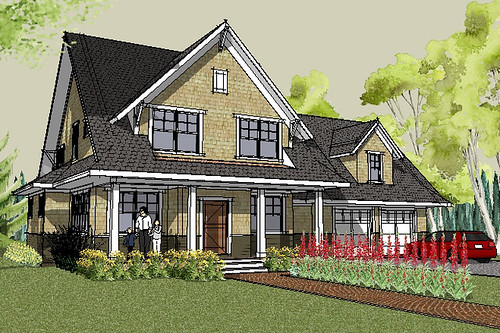 Stillwater Craftsman House Plan Rendering