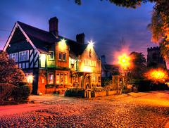 Rams Head Pub Grappenhall, Cheshire at Night