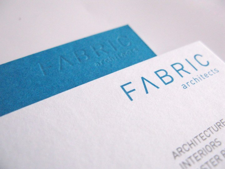 Fabric Architects Business Card - Logo Close up