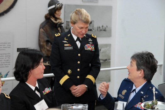 Female flag officers honor first woman four-star