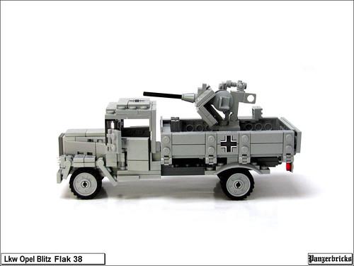 Camión Opel Blitz con FlaK 38