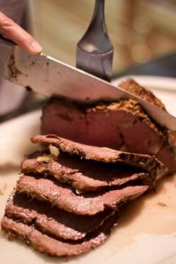 Slicing Garlic Roast Beef