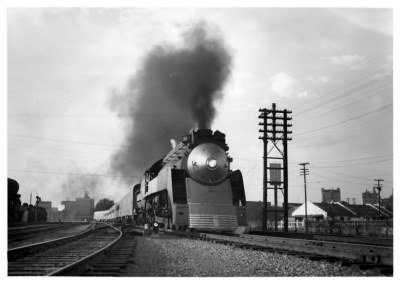 Southern Pacific Sunbeam departing Dallas for Houston on October 5th, 1952