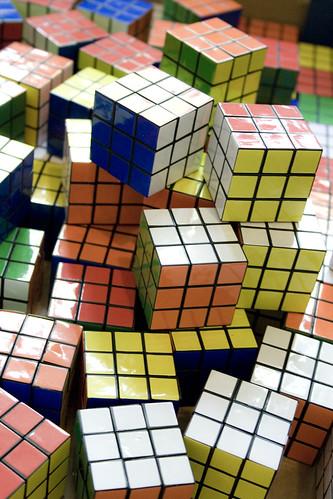 100 Rubic cubes by Sam Greenhalgh CC Flickr