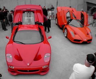 ferrari f50 and enzo