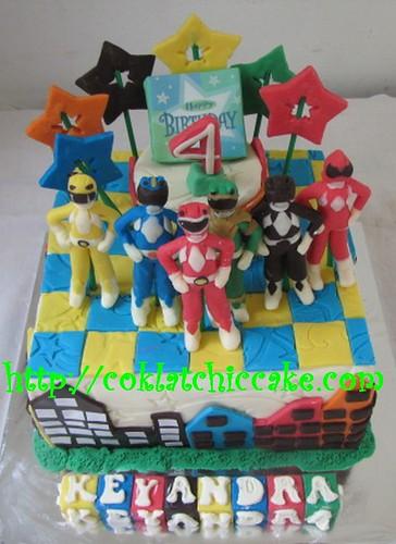 Kue ulang tahun power ranger