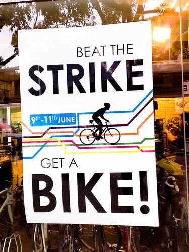 Beat the STRIKE - get a BIKE!