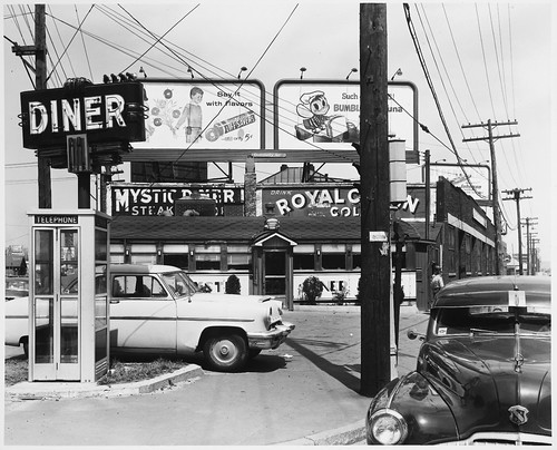 Somerville, Middlesex Avenue, Diner and Telephone Booth