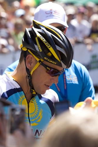 Lance Armstrong vuoden 2009 Tour Down Under -kilpailussa. (Kuva: Paul Coster)