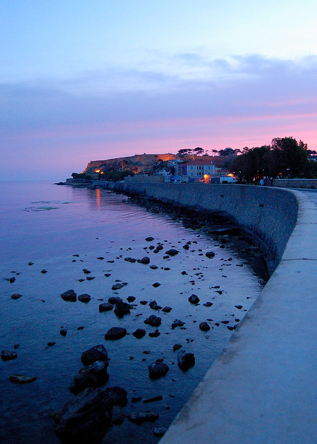 The Fortezza at dawn in Rethymno on the Greek island of Crete (I)