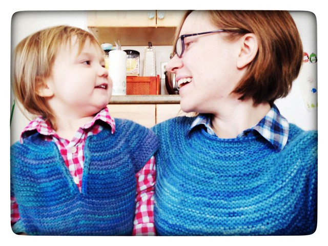 Me and my girl and our matchy sweaters.