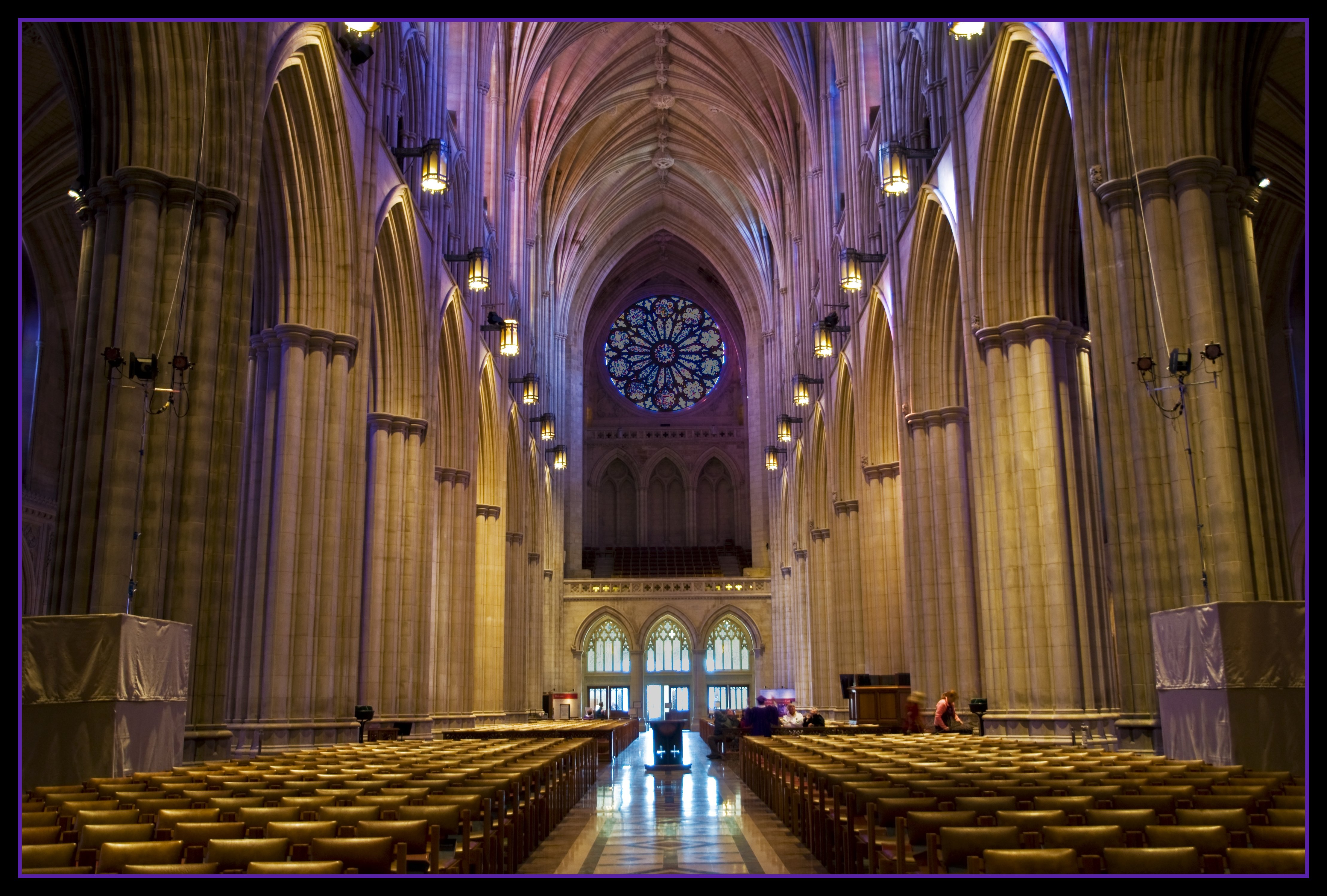 Magical Lighting Washington National Cathedral Washington