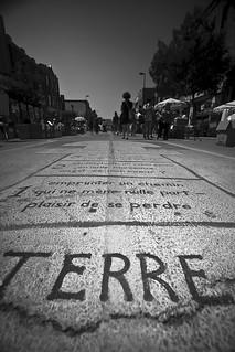 Tableau noir sur la rue Mont-Royal