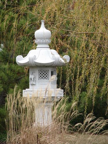 in the pagoda garden