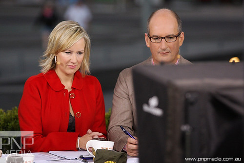 Chanel 7 SUNRISE, Melbourne _ Melissa Doyle and David Koch
