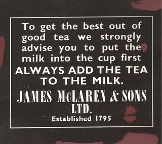 Advert for James McLaren & Sons Tea