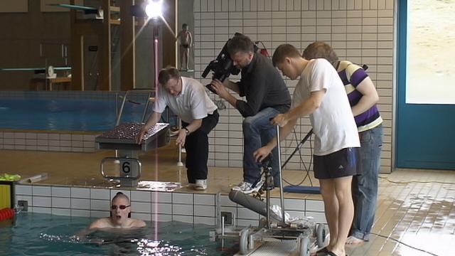 Pál Joensen being tested by Rein Haljand in Tórshavn