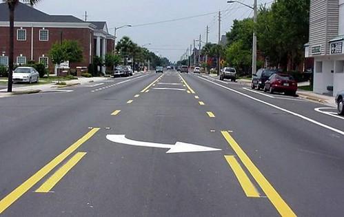 Center turn lanes make driving smoother