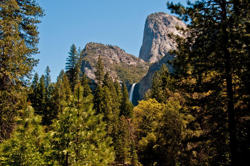 The top of the Yosemite Waterfall