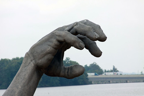 a giant hand ... i dunno. National Harbor, DC.
