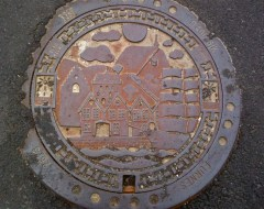 Manhole cover .  Bergen - Norway