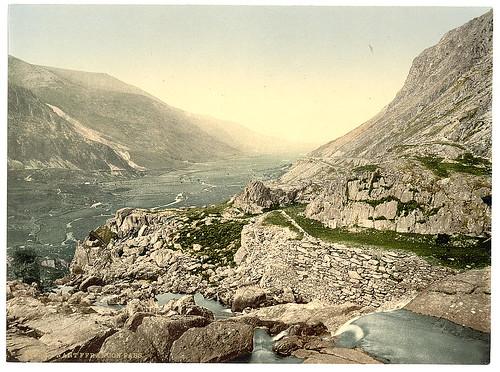 [General view, Nant Francon (i.e. Nant Ffrancon) Pass, Wales] (LOC)