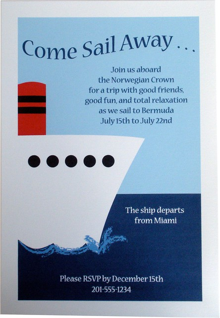 Party Invitation Nautical Cruise Ship Boat Flickr Photo Sharing